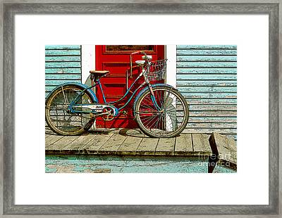 Old Bicycle. Warren, Vermont Framed Print by George Robinson