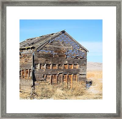 Old Cabin In The Desert Framed Print