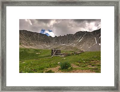 Old Cabin Framed Print