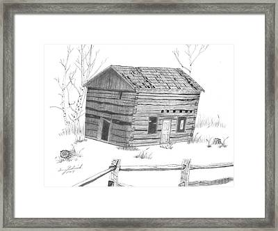 Old Cabin Framed Print