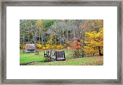 Old Cabin Framed Print by Todd Hostetter