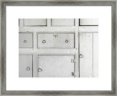 Old Cabinet Framed Print by Tom Gowanlock