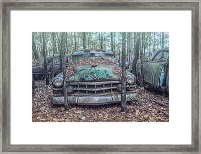 Old Caddy Framed Print