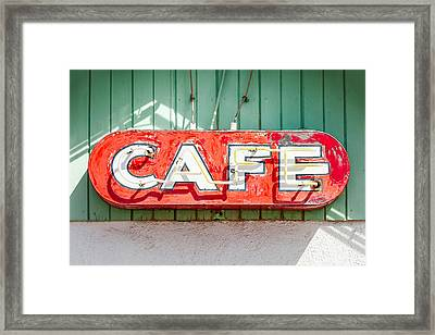 Old Cafe Sign Framed Print