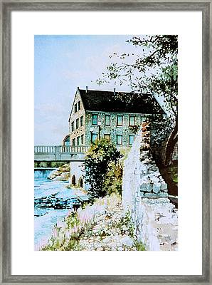 Old Cambridge Mill Framed Print by Hanne Lore Koehler
