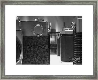 Old Camera Line-up Framed Print by Yali Shi