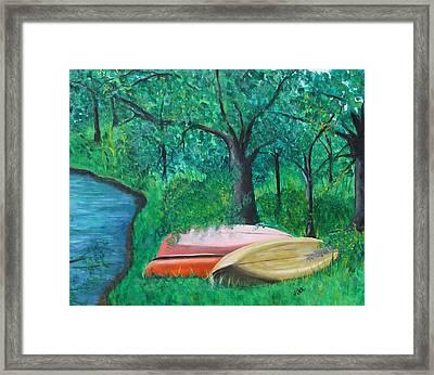 Old Canoes Framed Print