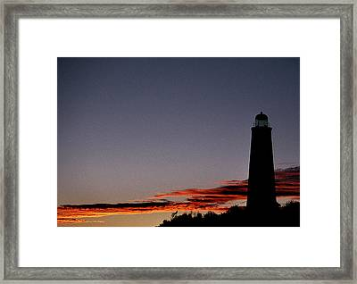 Old Cape Henry Sunrise Framed Print by Skip Willits