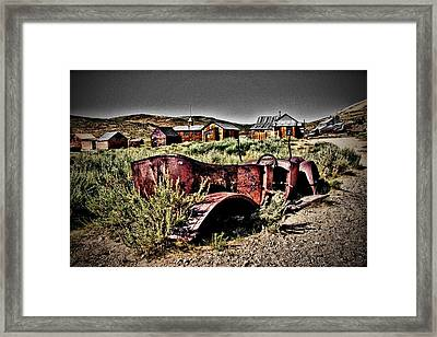 Old Car At Bodie Framed Print by Chris Brannen