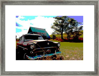 Old Car Framed Print by Jean Evans