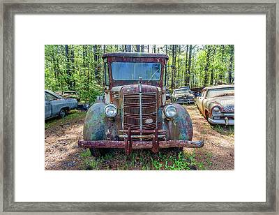 Old Car Smile Framed Print