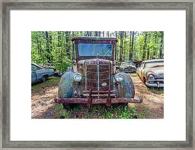 Old Car Smile Framed Print