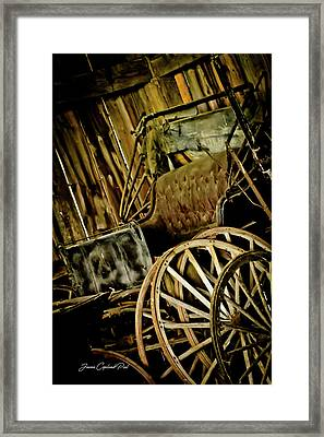 Framed Print featuring the photograph Old Carriage by Joann Copeland-Paul