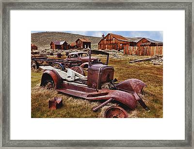 Old Cars Bodie Framed Print by Garry Gay