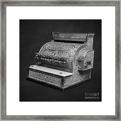 Old Cash Register Square Framed Print by Edward Fielding