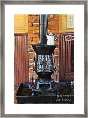 Old Cast Iron Stove 1 Framed Print