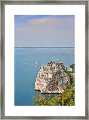 Old Castle Of Duino Framed Print by Michael Kohaupt