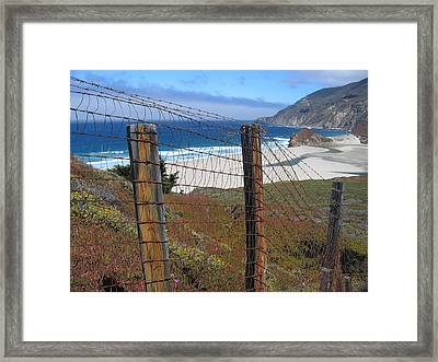 Framed Print featuring the photograph Old Cattle Ranch In Big Sur by Don Struke