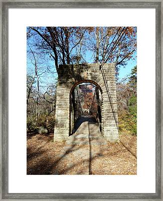 Old Ccc Swinging Bridge Framed Print