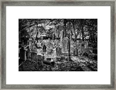 Old Cemetery In Philadelphia 1 Framed Print by Val Black Russian Tourchin