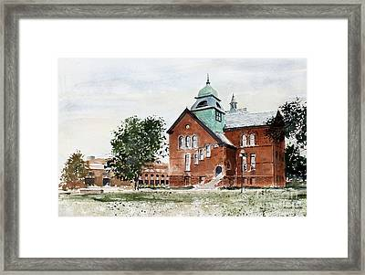 Oklahoma State University Old Central Framed Print