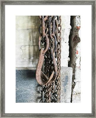 Old Chains Framed Print