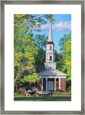 Old Chapel On The Green Framed Print by Susan Rissi Tregoning