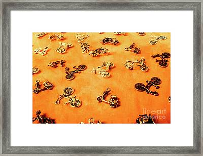Old Charm Scooters Framed Print