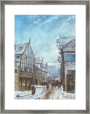 Old Cheapside, Warrington, 1864 Framed Print