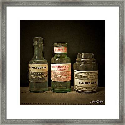 Old Chemist Framed Print by Leonardo Digenio