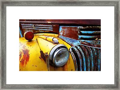 Old Chev Truck On Hwy 69 Framed Print