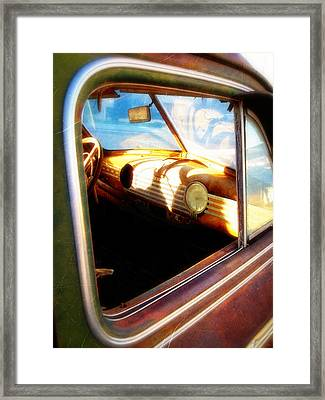 Framed Print featuring the photograph Old Chevrolet Dashboard by Glenn McCarthy Art and Photography