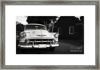 Old Chevy Connecticut Framed Print by Edward Fielding