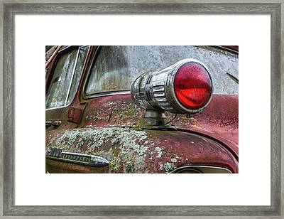 Old Chevy Firetruck Framed Print