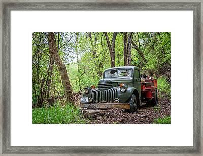Old Chevy Oil Truck 1  Framed Print