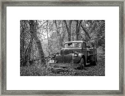 Old Chevy Oil Truck 2 Framed Print