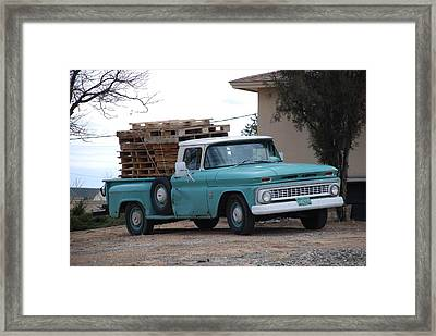 Framed Print featuring the photograph Old Chevy by Rob Hans
