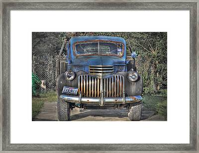 Framed Print featuring the photograph Old Chevy Truck by Savannah Gibbs