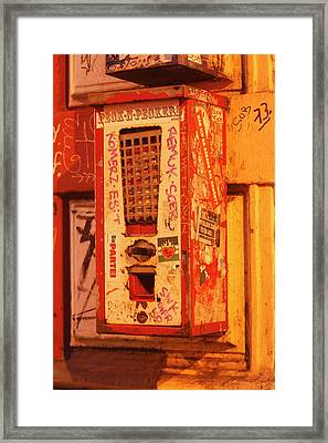 Old Chewing Gum Machine Framed Print