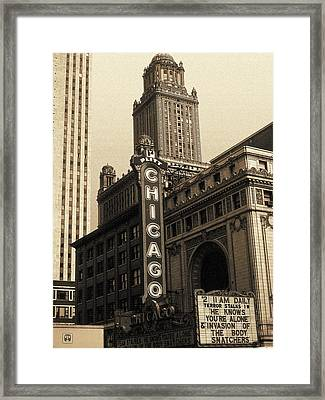 Old Chicago Theater - Vintage Art Framed Print