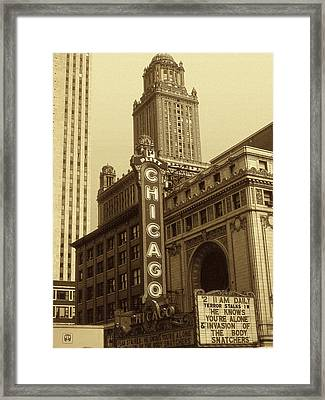 Old Chicago Theater - Vintage Photo Art Print Framed Print