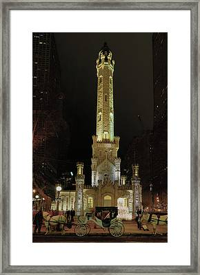 Old Chicago Water Tower Framed Print