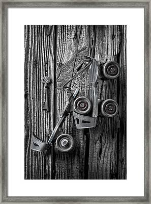 Old Childhood Roller Skates Framed Print