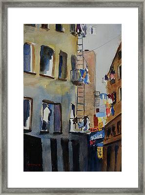 Old Chinatown Lane Framed Print