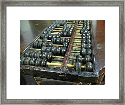 Old Chinese Abacus Framed Print