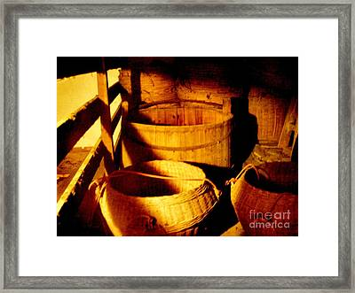 Old Chinese Attic 5 Framed Print by Kathy Daxon