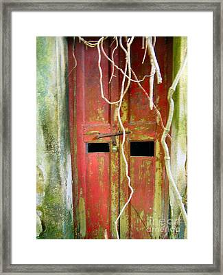Old Chinese Village Door Eleven Framed Print by Kathy Daxon