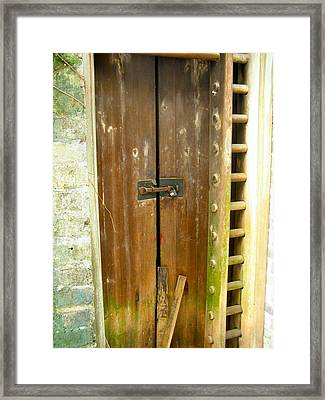 Old Chinese Village Door Series Eight Framed Print by Kathy Daxon
