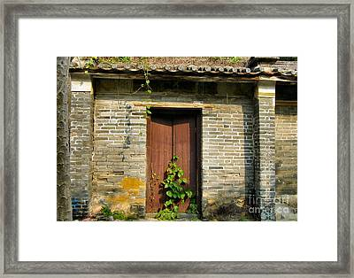 Old Chinese Village Door Series Sixteen Framed Print by Kathy Daxon