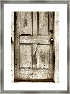 Old Church Door Framed Print by Bonnie Bruno